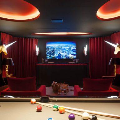 Villa Neo cinema in the Entertainment Room