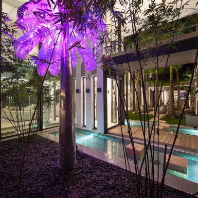 Villa Neo Pink Palm courtyard